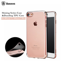 For Apple IPhone 7 7 Plus Case Cover Original Baseus Plating Frame Soft TPU Back Cover