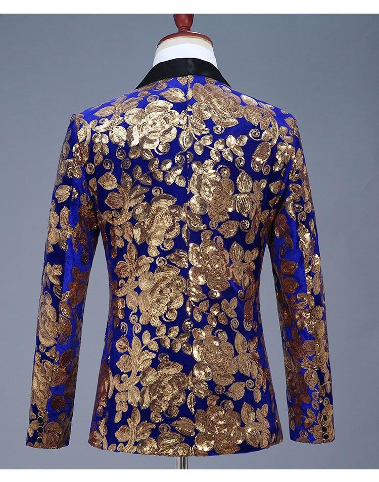Мужской блестящий пиджак синий красный черный на одной пуговице