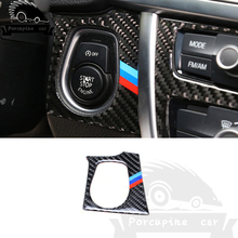 For BMW 13-18 F30 F34 3 4 Series 3GT Interior Carbon Fiber Car Start Stop Engine Button Cover Sticker M Strips Trim Car Styling car headlight switch button decorative frame cover trim for bmw 3 4 series gt f30 f34 2013 2018 car styling modified stickers