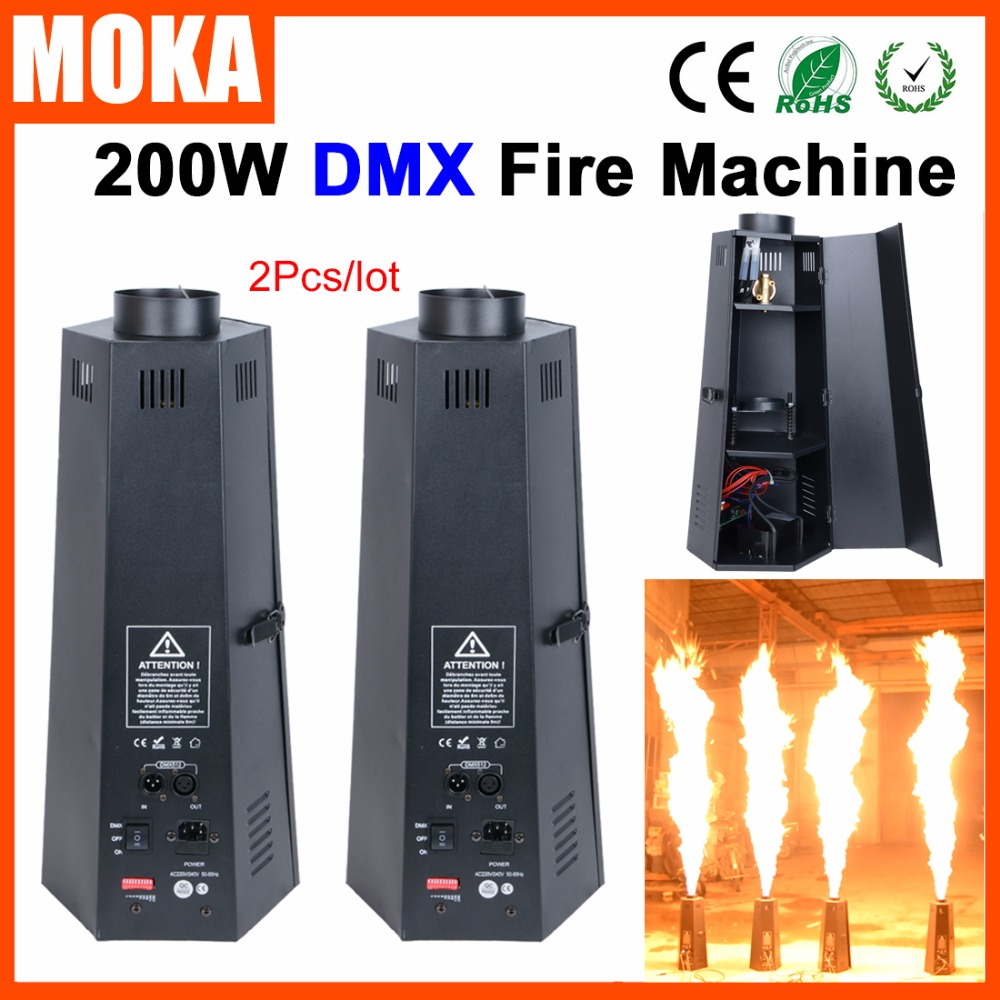 2 Pcs/lot Hot sale chinese wholesaler 6 head stage effects flame machine dmx fire projector for Stage Special Effect hot sale inkjet printer machine 50meter 4 line 5mm 3mm solvent ink tube for infiniti pheaton sid roland mimaki mutoh