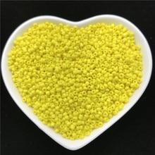 2mm 3mm 4mm amarelo charme checa contas de semente de vidro para fazer jóias diy pulseira colar acessórios
