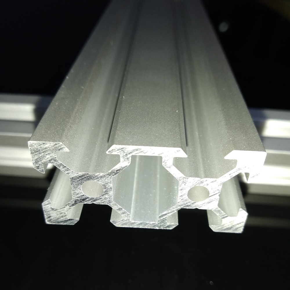 silver anodized <font><b>2040</b></font> <font><b>Aluminum</b></font> <font><b>Profiles</b></font> Extrusion Linear Rail <font><b>2040</b></font> <font><b>V</b></font>-<font><b>Slot</b></font> Frame For CNC and DIY 3D Printer image