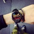 2016 Мода Мультфильм Симпсоны BABYMILO Резиновые Кварцевые Наручные Часы Часы для Мужчин Мужской Женщины Студентки OP001