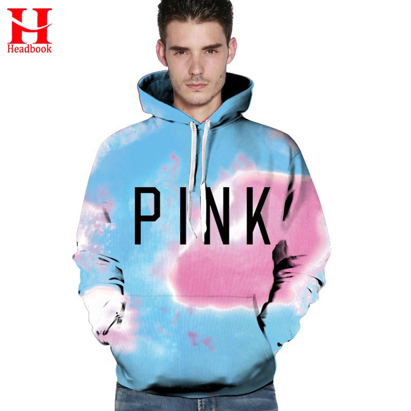 2017 Headbook Space Sky Hoodies Men Women Sweatshirts Print PINK Letters Red Clouds Unisex Hip Hop Hoodies Hooded Pullovers