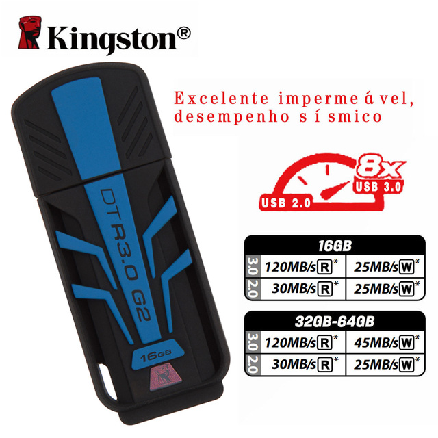 Kingston 16 gb usb flash drive chiavette usd 3.0 pen drive de memoria usb llave usb a prueba de agua