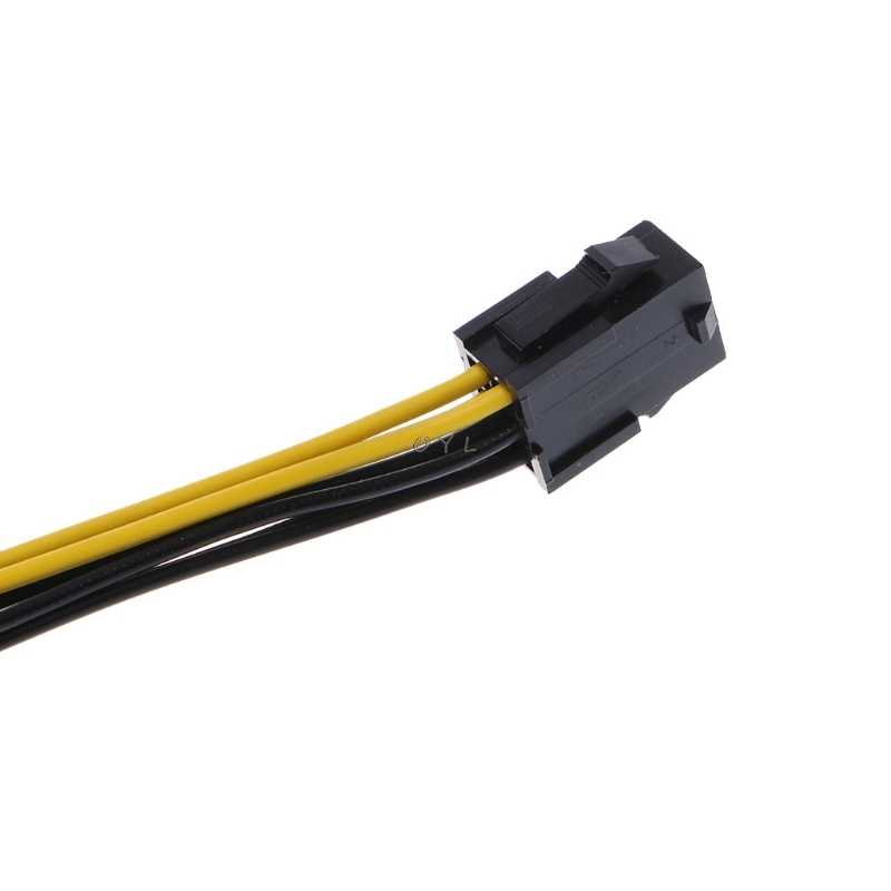 PCI Express PCIE siyah kırmızı 6 Pin 8 Pin grafik kartı güç adaptörü kablosu 10CM PC bırak kargo