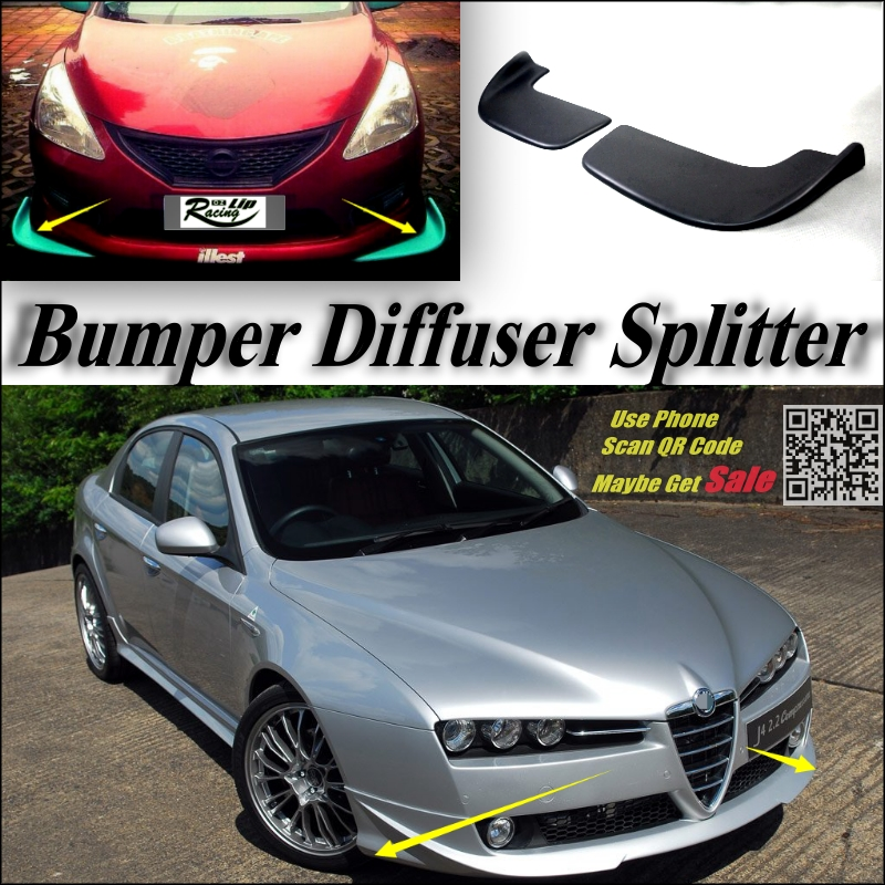 Car Splitter Diffuser Bumper Canard Lip For Alfa Romeo 159