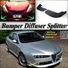 Car Splitter Diffuser Bumper Canard Lip For Alfa Romeo 159 AR 2005 2016 Tuning Body Kit