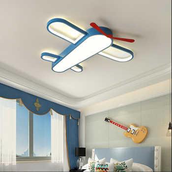Luxury Chandelier Lamps For Girls Room Boy Bedroom Blue Airplane Light Shade Lighting Lampadario Lustres Fixture
