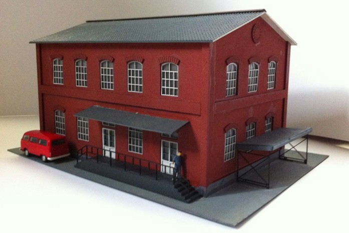 1 87 Model Train ho scale red residential building diy kit architectural model material sand table