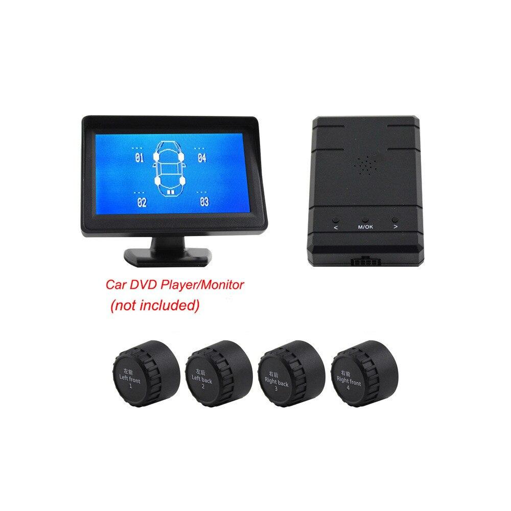 Système d'alarme de sécurité automatique pour voiture TPMS système de pression des pneus pour voiture DVD vidéo RCA tous les écrans dans les capteurs externes/internes