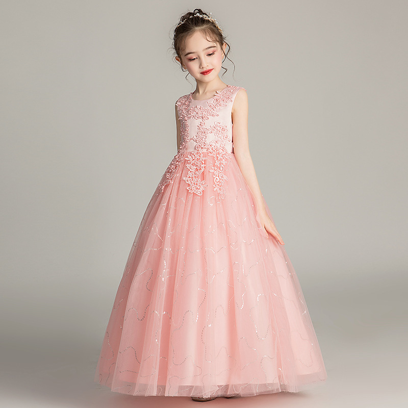 Cute Flower Girl Dresses For Wedding O-Neck Appliques Ball Gown For Kids Lace Beauty Holy Communion Dresses Vestido Flores 2020