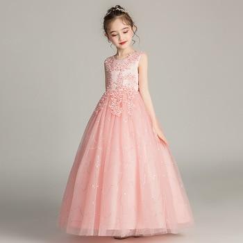 939f54c2b Vestidos de niña de las flores para bodas corto frente largo espalda Primera  Comunión vestidos para niñas niños Formal vestido de fiesta vestido de baile