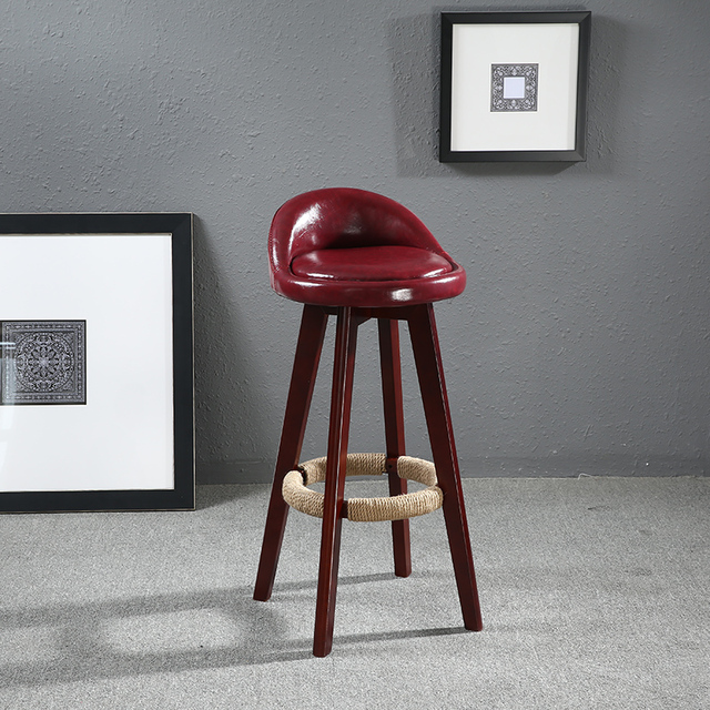 seat height 60cm swivel wood bar stool chair leather upholstered