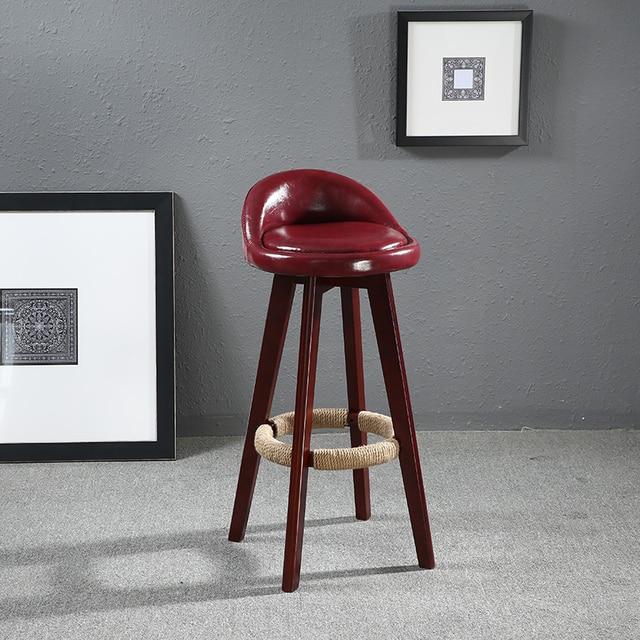 Sitz Höhe 60 cm Swivel Holz Bar Hocker Stuhl Leder Gepolsterten ...