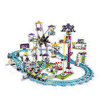 1178pcs Large Amusement Park Roller Coaster Girl Series Building Blocks Model Sets Toys Compatible With Lego