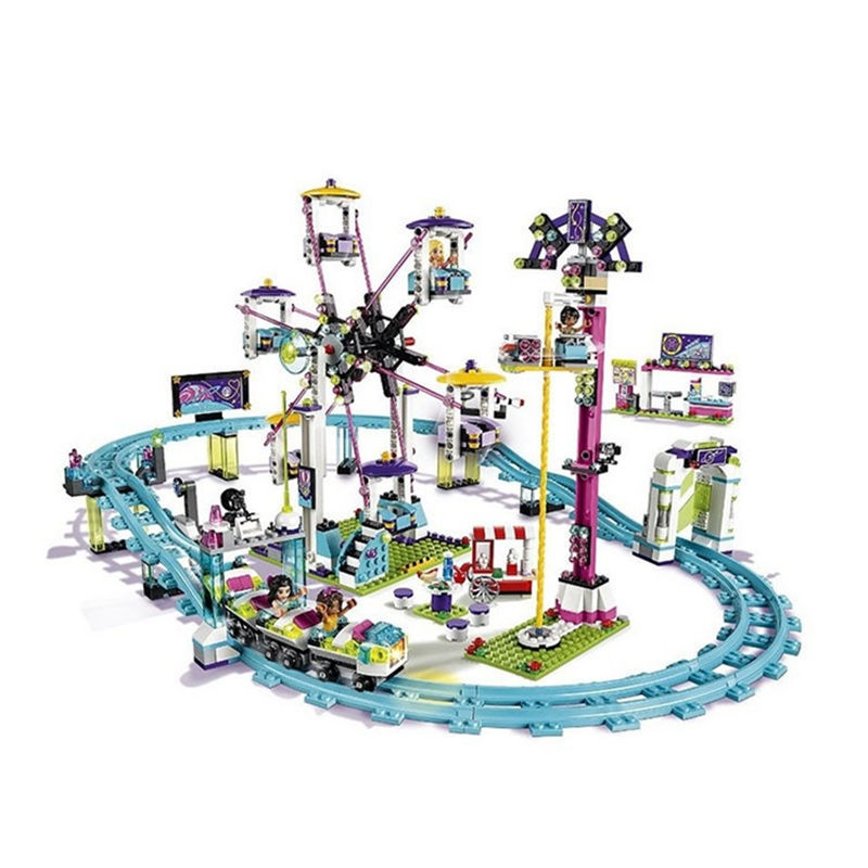 1178pcs Large amusement park roller coaster girl series Building Blocks Model Sets toys compatible with Lego girl gift lepin 02012 city deepwater exploration vessel 60095 building blocks policeman toys children compatible with lego gift kid sets