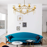 NEW Nordic Magic Bean Creative Living Room Chandeliers Post Modern Minimalist Bedroom Lighting Packages LED Lamps