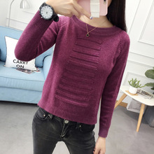 2017 New Womens Coarse Wool Sweater Warm Spring Autumn Winter Casual Sleeved Pullover
