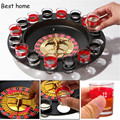 2016 New arrive wholesale and retail drinking Roulette Set Shot Glass Roulette Set Novelty Drinking Game with 16 Shot Glasses