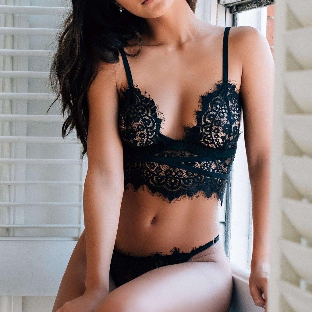 Women's Fashionable Plus Size Lingerie Porno   Bra   and G-String   Set   Underwear Sous Vetement Femme Sexy Ensemble Lenceria Dessous