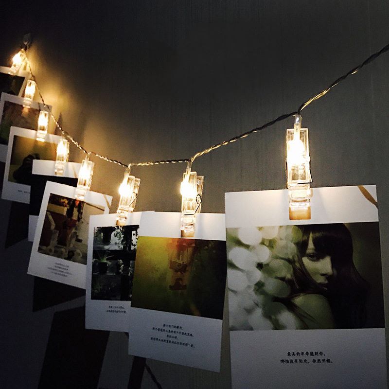 Photo Wall Decoration Lights DIY Card Shelf Lights Romance - Holiday Lighting
