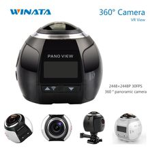 360 Cámara 4 K Wifi Mini Cámara Panorámica 2448*2448 Ultra HD Cámara Panorámica de 360 Grados Impermeable Sport Driving VR Cámara