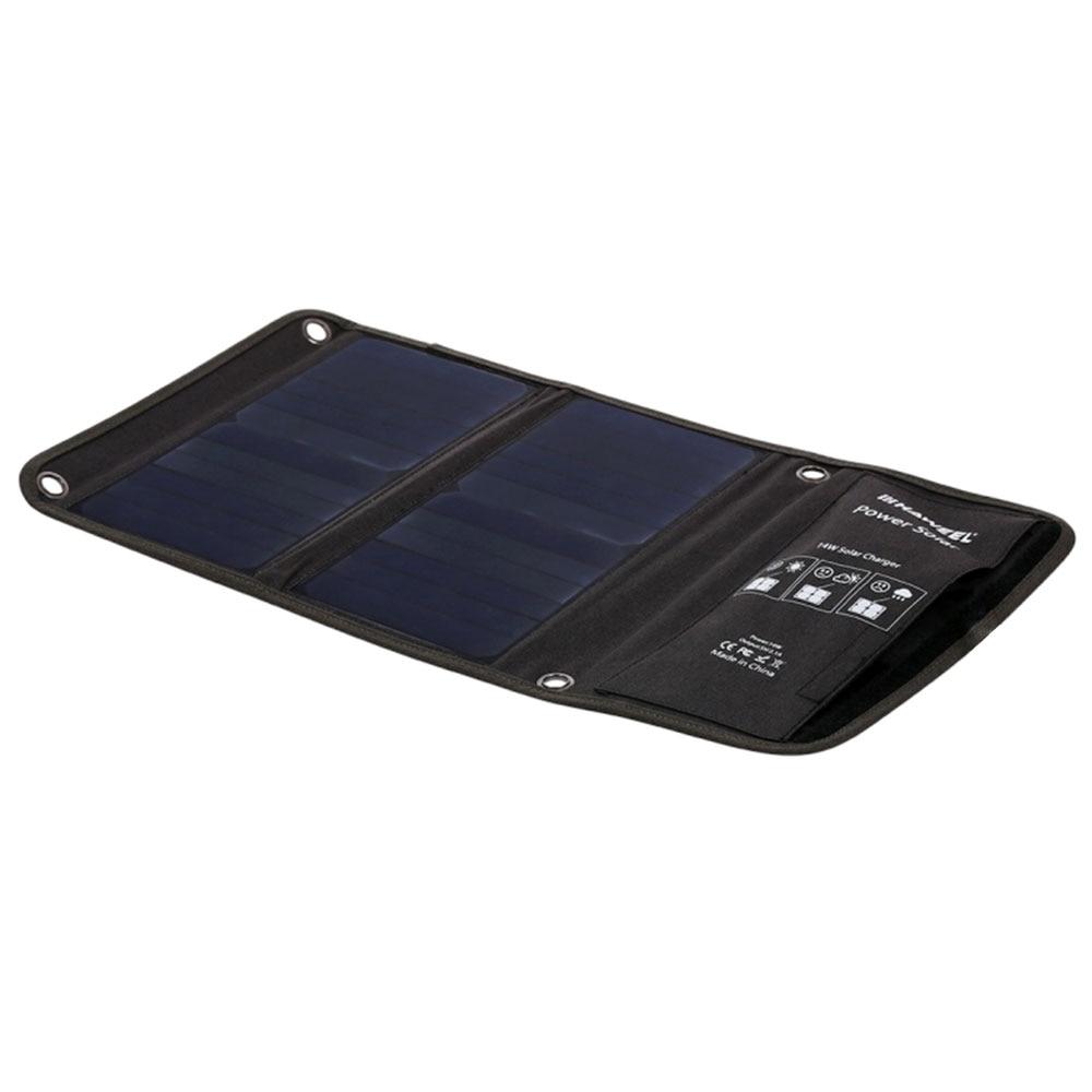 Générateur solaire se pliant portatif d'alimentation d'énergie de secours de panneau solaire montant le silicium extérieur 5 V 14 w monocristallin