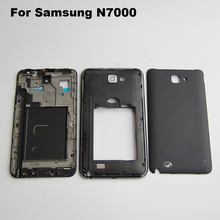 Generic Complete GT-N7000 Housing Cover Frame Middle Chassis Door Back Case for Samsung Galaxy Note 1 N7000  White