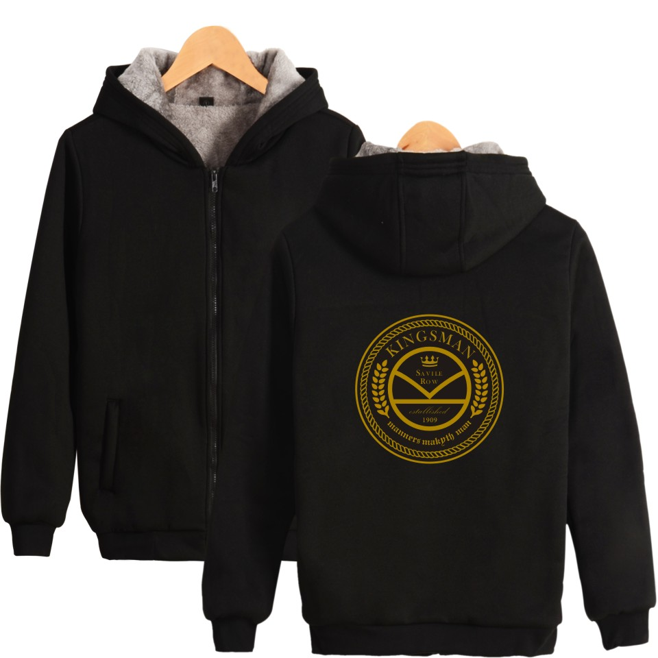 King man hoodies and sweatshirts Autumn Winter Male Warm hoodies zipper pockets baseball uniform jacket coat King man