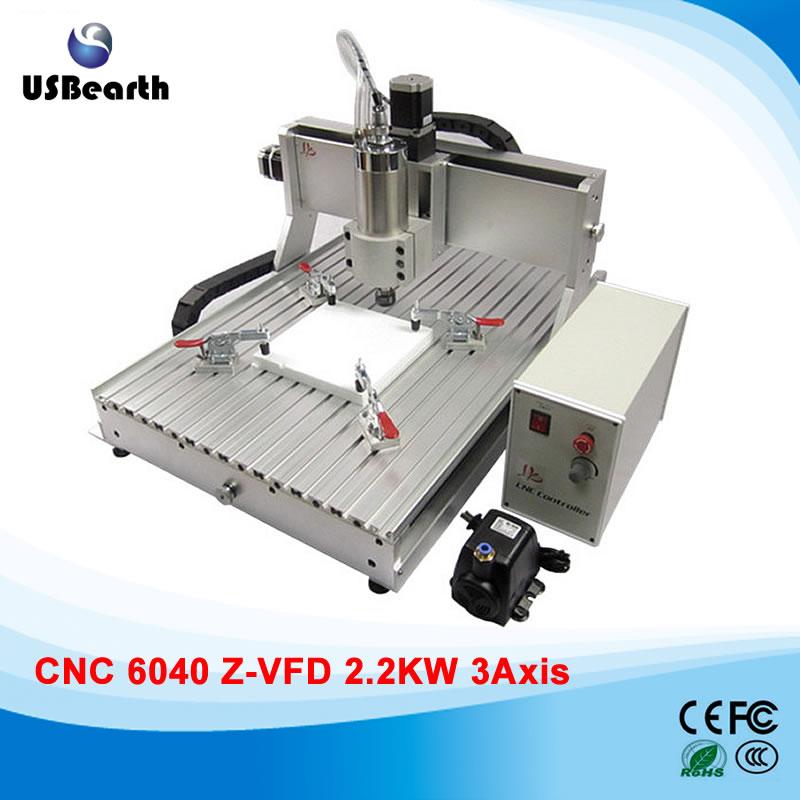 Woodworking machine CNC 6040 2.2KW 3 axis cnc cutting machine for metal stone cutting