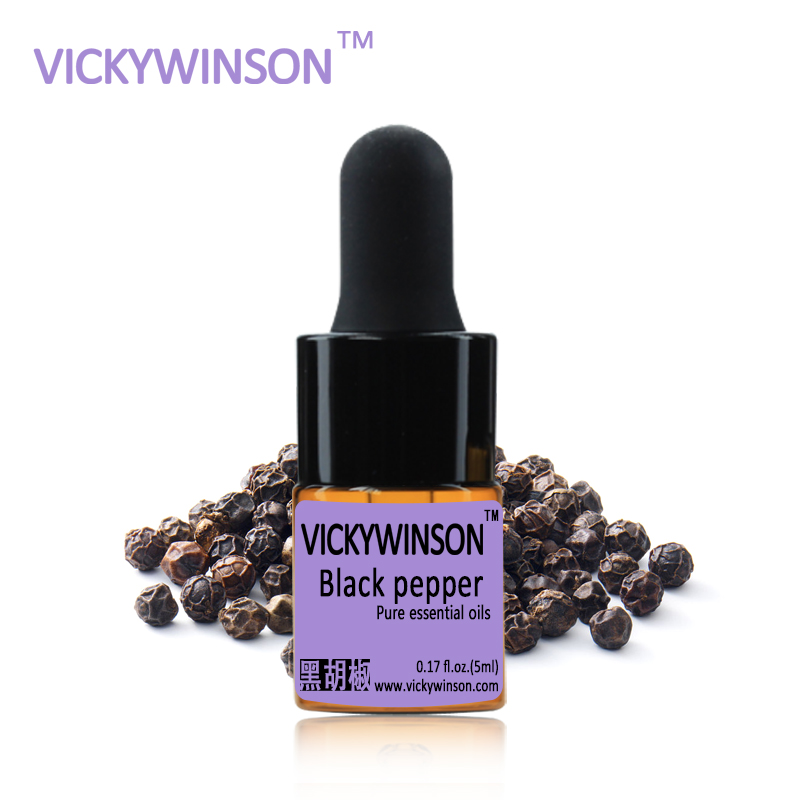 VICKYWINSON Black pepper essential oil 5ml  100% Pure black peppers oils WD17