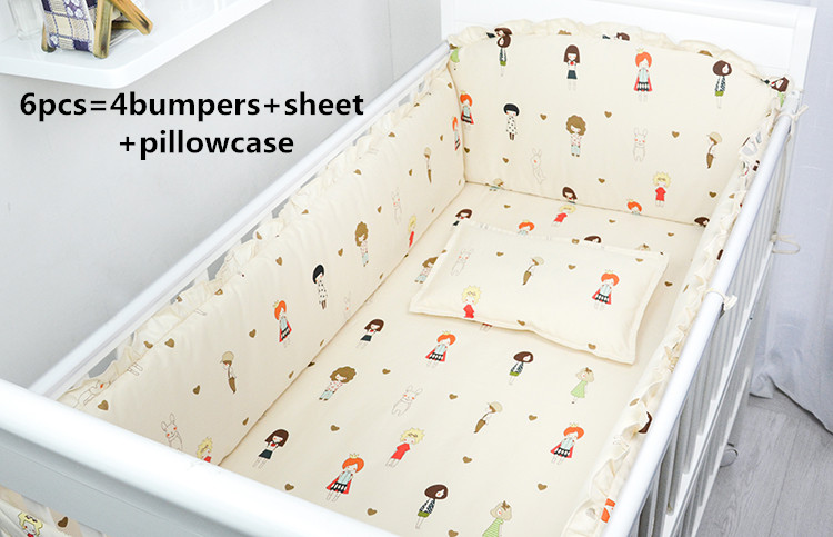 Promotion! 6/7PCS Baby cot bedding set Cartoon crib bedding set 100% cotton bed clothes bed decoration, 120*60/120*70cm promotion 6 7pcs cartoon cot baby crib bedding sets bed linen 100%cotton reactive baby bedding set 120 60 120 70cm