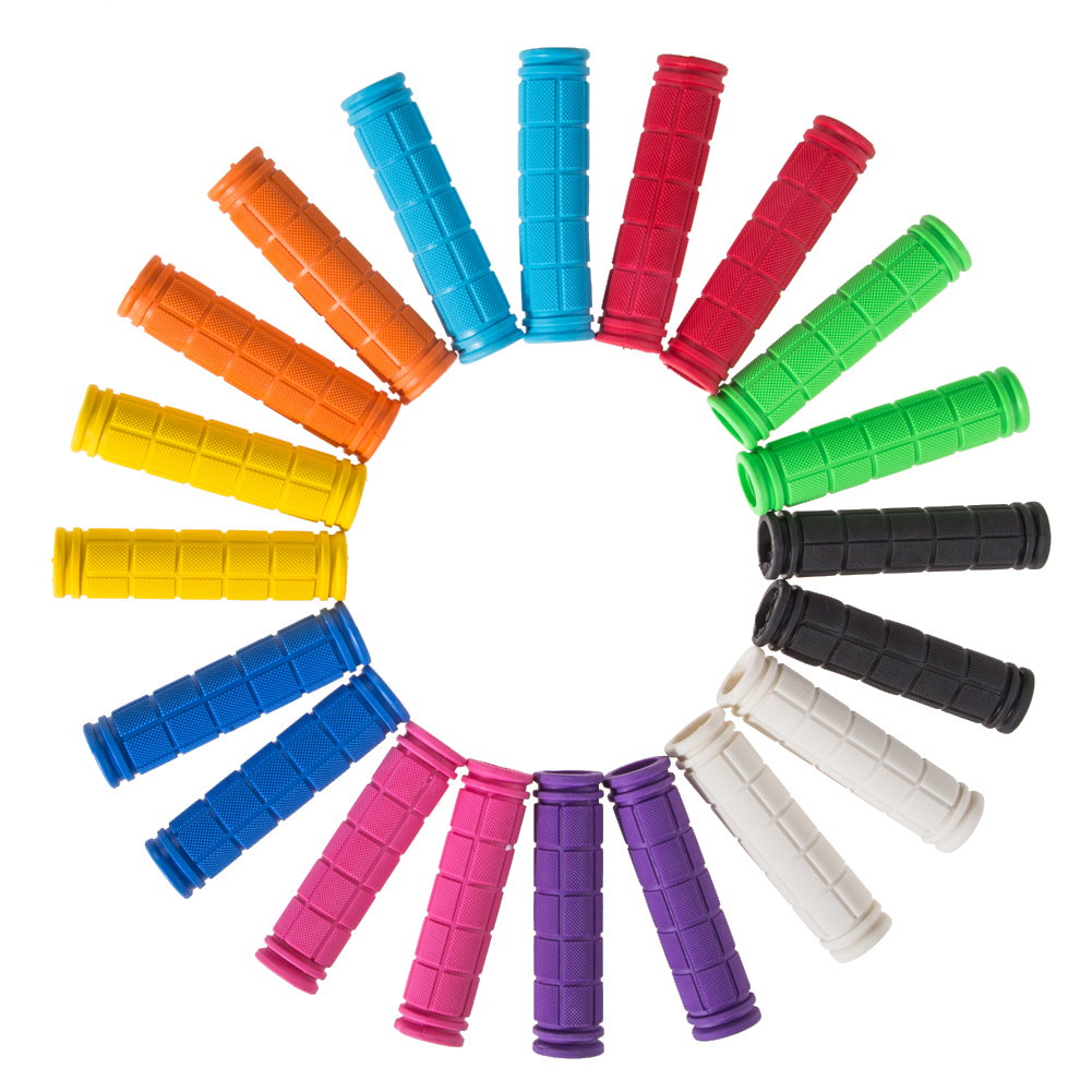 12cm Rubber Bike Handlebar Cover BMX MTB Mountain Bicycle Handles Anti-skid Bicycles Bar Fixed Gear Parts 10 Colors