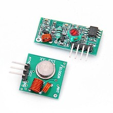 Free Shipping 1 Pair 433Mhz RF Transmitter and Receiver Module Link kit for Arduino/ARM/MCU WL DIY Electronic Kit