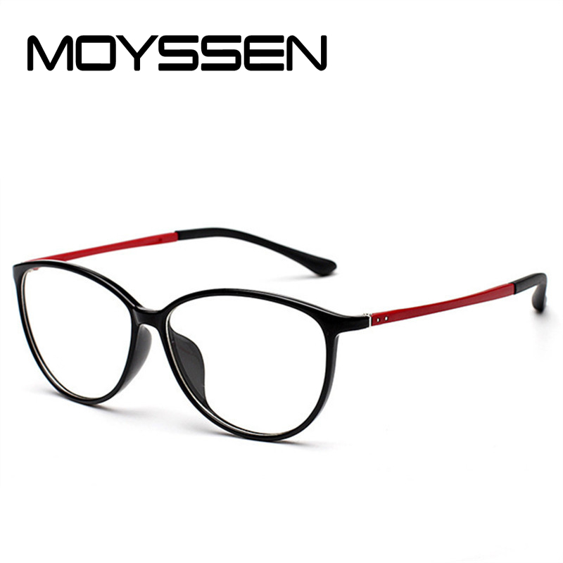a0dbdee2e727 MOYSSEN Fashion Women Korean TR90 Cat Eye Glasses Frame Vintage Big Round Optical  Myopia Eyeglasses Prescription Eyewear