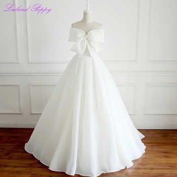 Women's A-line Princess Organza Wedding Dresses 2019 Floor Length Sleeveless Vestido de Novia Bridal Gowns with Bow Knot - DISCOUNT ITEM  24% OFF All Category