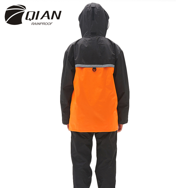 QIAN RAINPROOF 2017 Ny Impermeable Woman / Man Vattentät Raincoat Working Rain Coat Tjockare Police Rain Gear Motorcykel Rainsuit