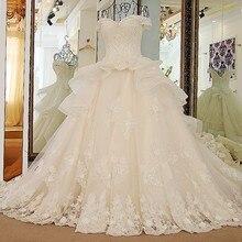 sceamout Luxury Train Wedding Dress gown Bride Dress