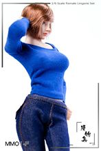 Custom 1/6 Scale Female  round neck bottoming shirt Lingerie long-sleevedno pants For 12'' Large Bust Female Action Figure Body s02a s06b s09c s18a s19b s20a s21b s22a s23b 1 6 tbleague ph seamless mid large breast bust female body f 1 6 head figure