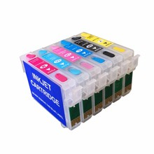 Free shipping T0791 T0792 T0793 T0794 T0795 T0796 refillable ink cartridges for Epson Photo 1400/1500w/Artisan 1430 printers