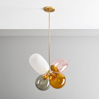 Nordic LED Glass deco chandelier lighting living room fixtures cafe dining room hanging lights Childrens bedroom pendant lamps-in Pendant Lights from Lights & Lighting
