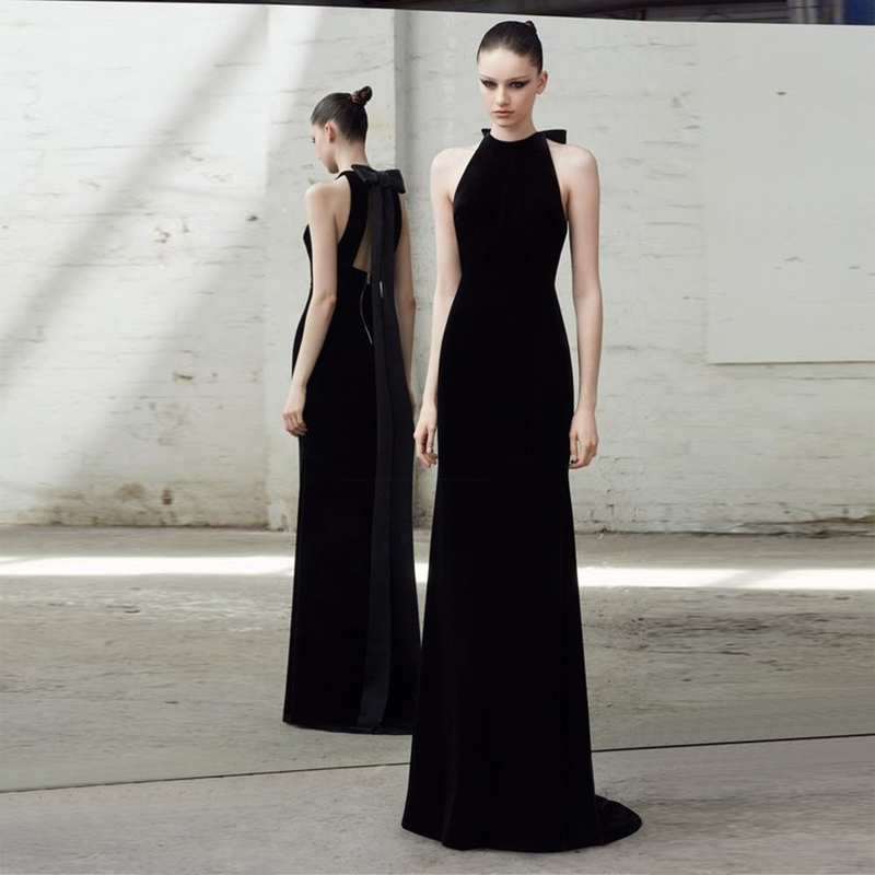 Manches Outfit Nouvelle Bandage Parti Sans Nu Robe Femmes Dos Mode Longue Cocktail En Noir Gros Élégant EwqACw