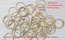 OEM Brazing Rings Soldering Rings Silver Based Braze Welding Wire Rod AWS A5.8 BAg-2 Customize Size Available 1KG/Pk
