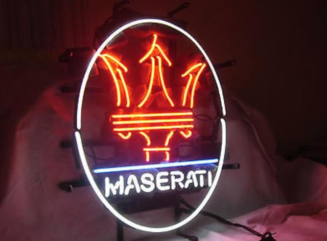 Business Custom Neon Sign Board For Maserati Italian Sports Luxury