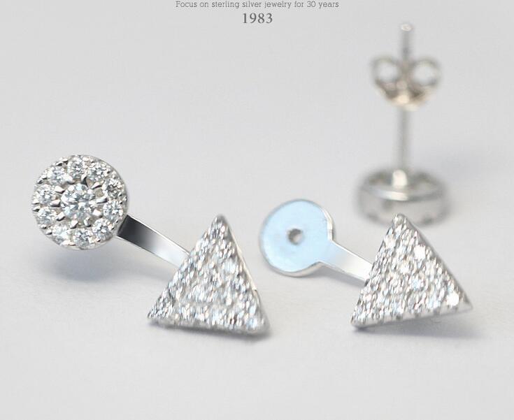 925 ασημένια σκουλαρίκια Λευκό CZ - Κοσμήματα - Φωτογραφία 3