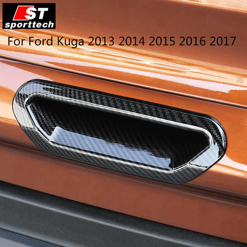 สำหรับ FORD KUGA 2013 2014 2015 2016 2017 ABS ที่มีคุณภาพสูงคาร์บอนไฟเบอร์ภายใน Trim เลื่อม, แผงหน้าปัด Trim ภายนอกรถ-จัดแต่งทรงผม