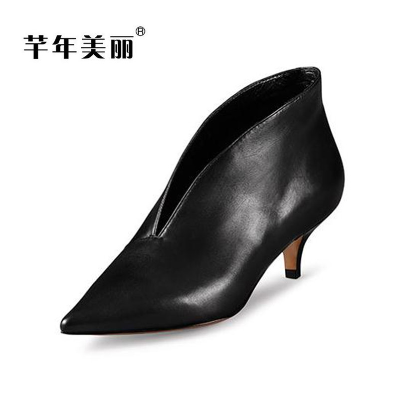 Fashion new high-heeled shoes spring sexy pointed toe Thin heels Black Women shoe Free shipping Tacones Mujer women pumps цена