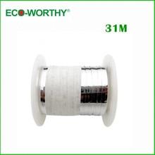 ECO WORTHY 31 Meter 100 Feet Solar Panel Ribbon Tabbing Wire Soldering 2mm Width Tabbing Wire