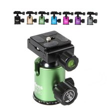 Selens Mini Ball Head Balhoofd Tafelblad Statief Stand Adapter w/Quick Release Plate voor Canon Nikon Sony DSLR Camera camcorder